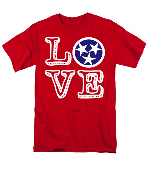 Men's T-Shirt  (Regular Fit) featuring the digital art Tennessee Flag Love by Heather Applegate