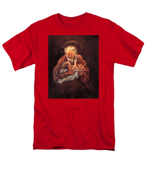 Men's T-Shirt  (Regular Fit) featuring the painting The Baby Jesus - A Study by Donna Tucker