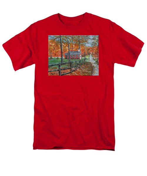 The Brick Country Schoolhouse Men's T-Shirt  (Regular Fit) by Mike Caitham