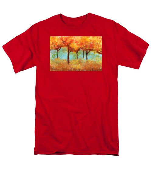 Men's T-Shirt  (Regular Fit) featuring the painting The Colors Of New Hampshire by Patricia Arroyo