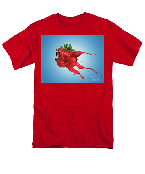 Men's T-Shirt  (Regular Fit) featuring the photograph The New Gmo Strawberry by Juli Scalzi