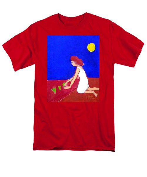 Men's T-Shirt  (Regular Fit) featuring the painting The Planting by Winsome Gunning
