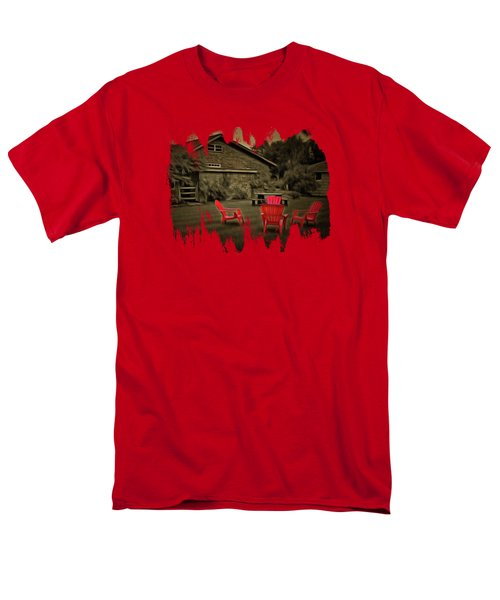 The Red Chairs In Neskowin Men's T-Shirt  (Regular Fit) by Thom Zehrfeld