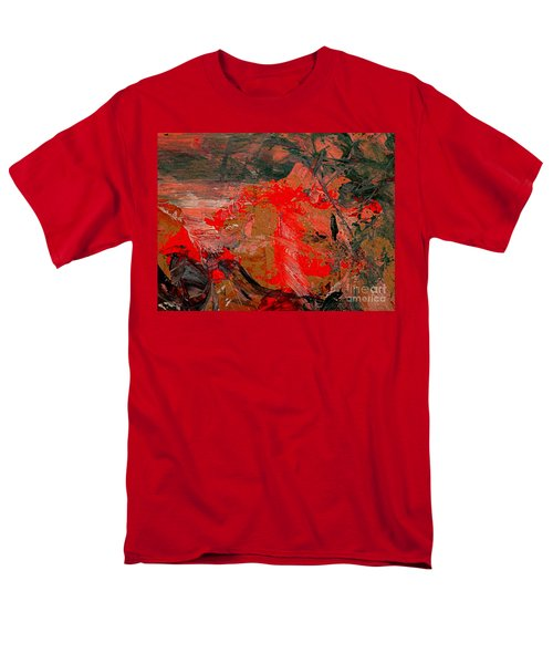 Men's T-Shirt  (Regular Fit) featuring the painting The Red Garden by Nancy Kane Chapman