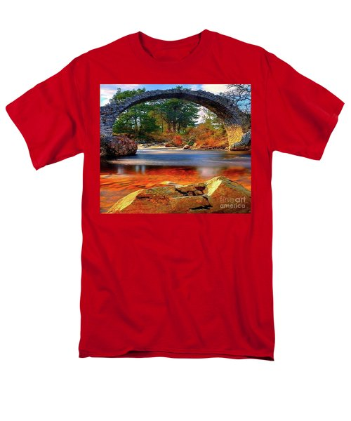 The Rock Bridge Men's T-Shirt  (Regular Fit) by Rod Jellison