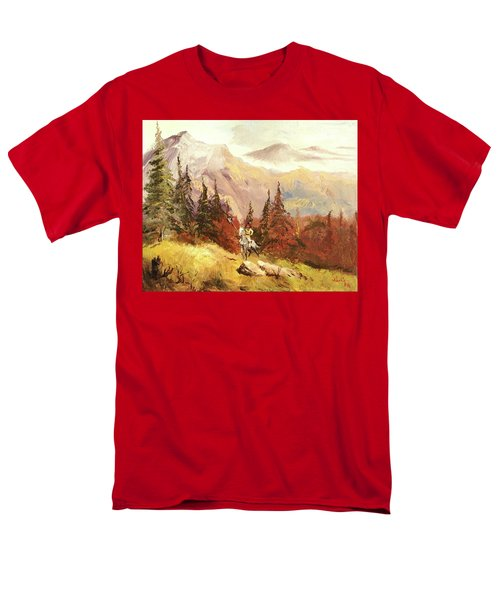 Men's T-Shirt  (Regular Fit) featuring the painting The Scout by Alan Lakin