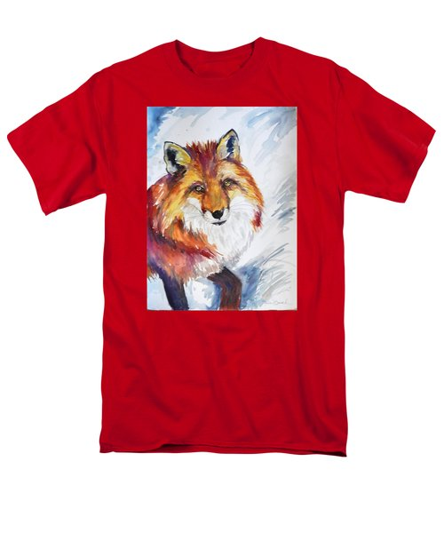 Men's T-Shirt  (Regular Fit) featuring the painting The Snow Fox by P Maure Bausch