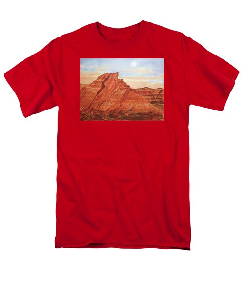 Men's T-Shirt  (Regular Fit) featuring the painting The Teepees by Ellen Levinson