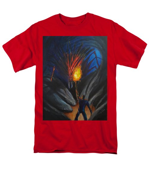 The Thing In The Cave Men's T-Shirt  (Regular Fit) by Chris Benice