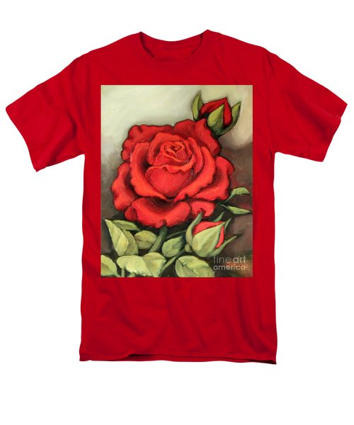 The Very Red Rose Men's T-Shirt  (Regular Fit) by Inese Poga