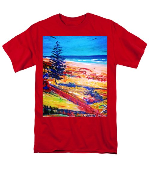 Men's T-Shirt  (Regular Fit) featuring the painting The Winter Dunes by Winsome Gunning