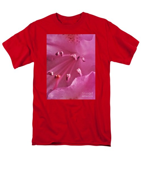 Men's T-Shirt  (Regular Fit) featuring the photograph The World Inside A Flower  by Lori  Lovetere