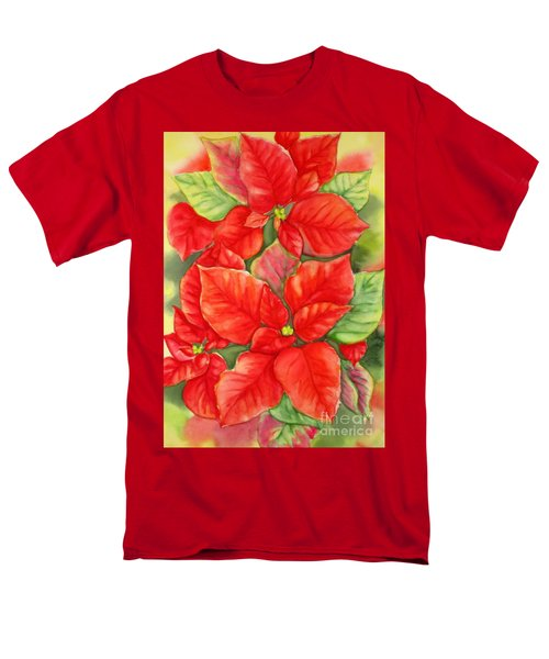 This Year's Poinsettia 1 Men's T-Shirt  (Regular Fit) by Inese Poga
