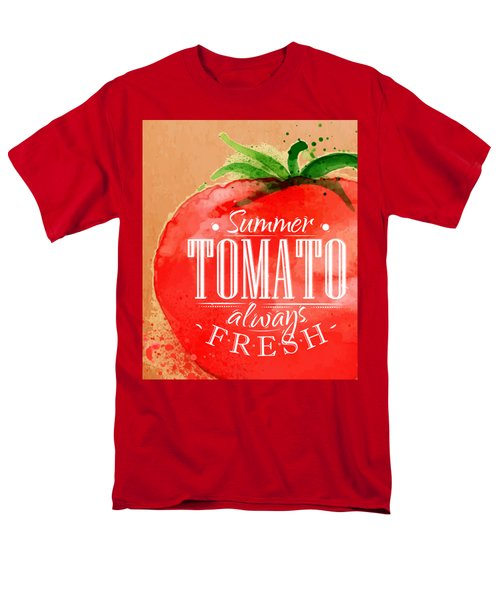 Tomato Men's T-Shirt  (Regular Fit) by Aloke Creative Store