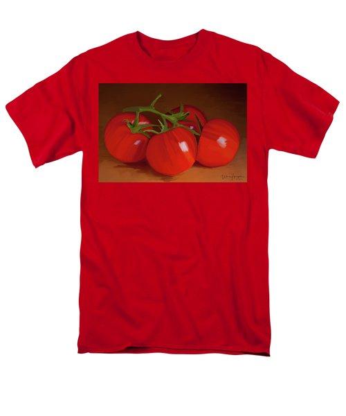 Tomatoes 01 Men's T-Shirt  (Regular Fit) by Wally Hampton