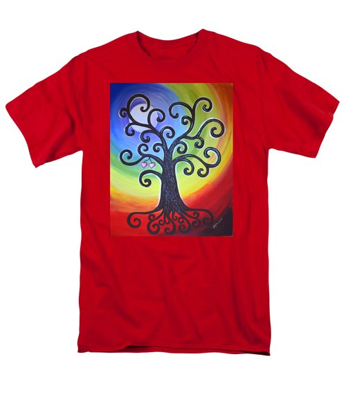 Men's T-Shirt  (Regular Fit) featuring the painting Tree Of Life Love And Togetherness by Agata Lindquist