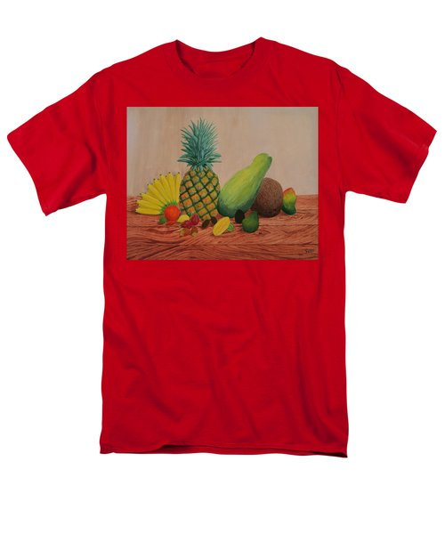 Men's T-Shirt  (Regular Fit) featuring the painting Tropical Fruits by Hilda and Jose Garrancho