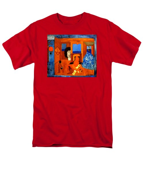 Trying To Find The Way Out Or Is It Better To Stay   Men's T-Shirt  (Regular Fit) by Colette V Hera  Guggenheim