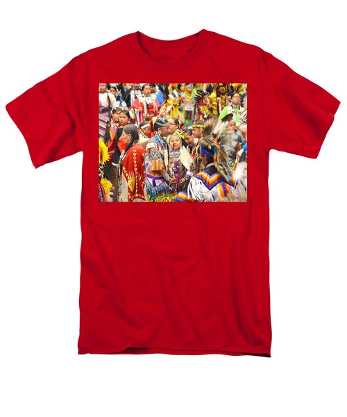 Men's T-Shirt  (Regular Fit) featuring the photograph Tweens At Grand Entry by Clarice  Lakota