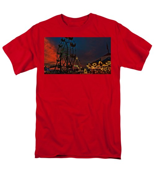 Men's T-Shirt  (Regular Fit) featuring the photograph Twilight On The Midway  by John Harding