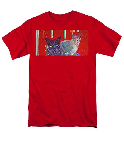 Two Posh Cats Men's T-Shirt  (Regular Fit) by Charles Stuart