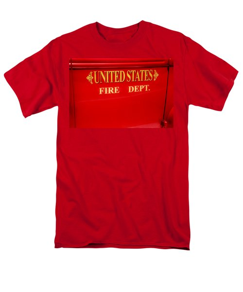 Men's T-Shirt  (Regular Fit) featuring the photograph United States Fire Department Engine by Toni Hopper