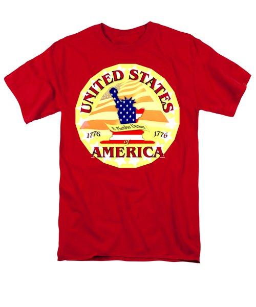 United States Of America Design Men's T-Shirt  (Regular Fit)