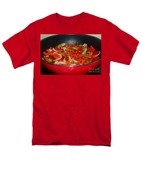 Vegetable Stir Fry By Kaye Menner Men's T-Shirt  (Regular Fit) by Kaye Menner