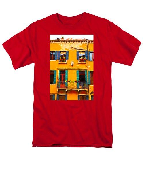 Venice Street Scene 1 Men's T-Shirt  (Regular Fit) by Richard Ortolano