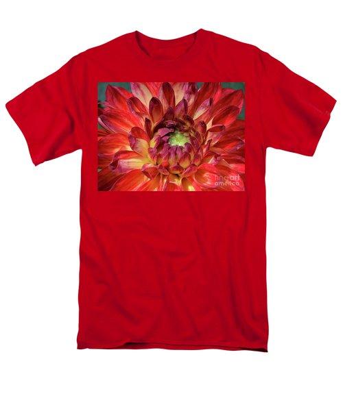 Variegated Dahlia Beauty Men's T-Shirt  (Regular Fit) by Debby Pueschel