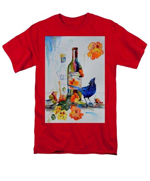Still Life With Steller's Jay Men's T-Shirt  (Regular Fit) by Beverley Harper Tinsley