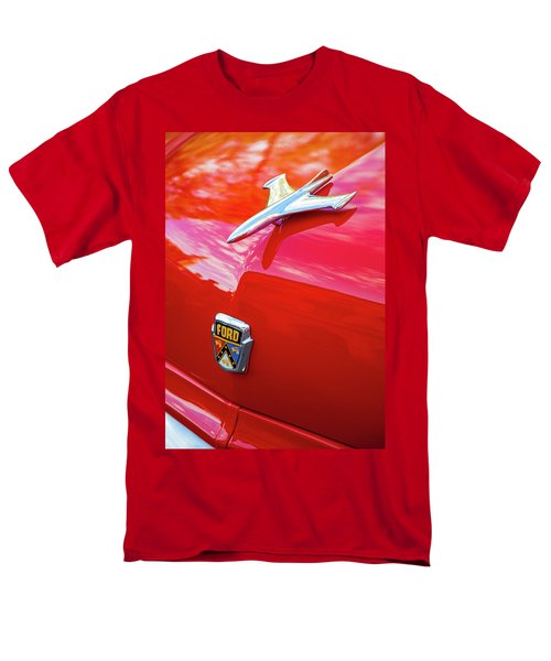 Men's T-Shirt  (Regular Fit) featuring the photograph Vintage Ford Hood Ornament Havana Cuba by Charles Harden