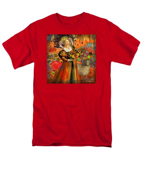 Vintage Taurus Gothic Whimsical Collage Woman Fantasy Men's T-Shirt  (Regular Fit) by Mary Hubley