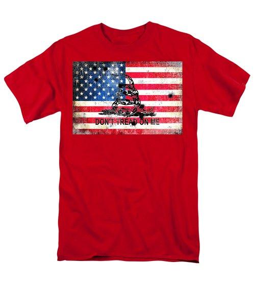 Viper N Bullet Holes On Old Glory Men's T-Shirt  (Regular Fit) by M L C