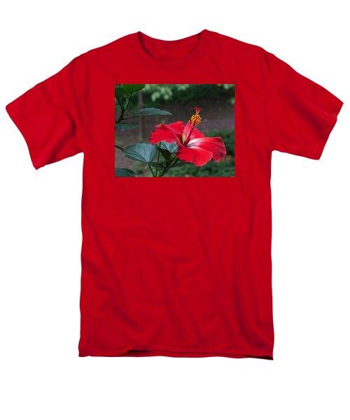 Men's T-Shirt  (Regular Fit) featuring the photograph Vivid Hibiscus by Arlene Carmel