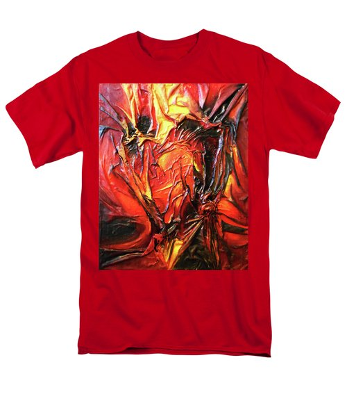 Men's T-Shirt  (Regular Fit) featuring the mixed media Volcanic Fire by Angela Stout