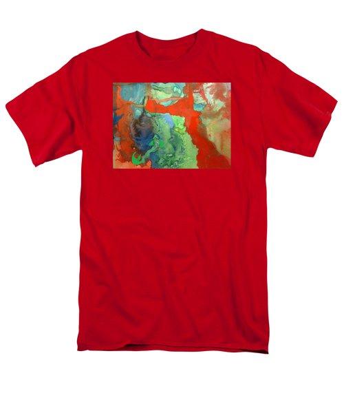 Volcanic Island Men's T-Shirt  (Regular Fit) by Mary Ellen Frazee