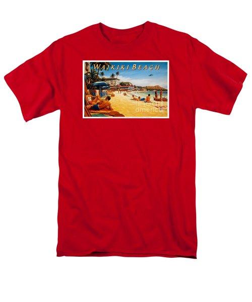 Waikiki Beach Men's T-Shirt  (Regular Fit) by Nostalgic Prints