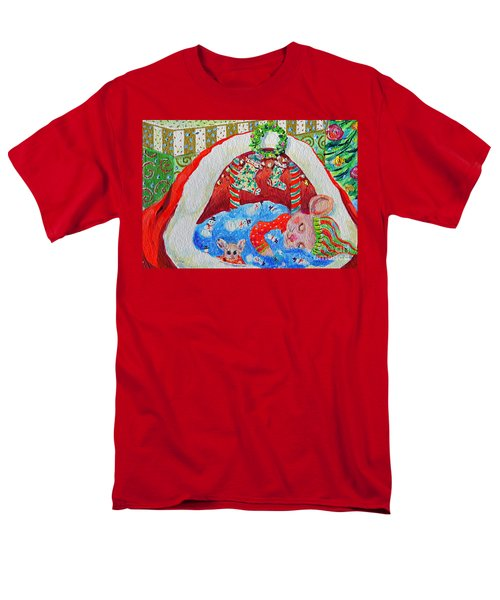 Waiting For Santa Men's T-Shirt  (Regular Fit) by Li Newton
