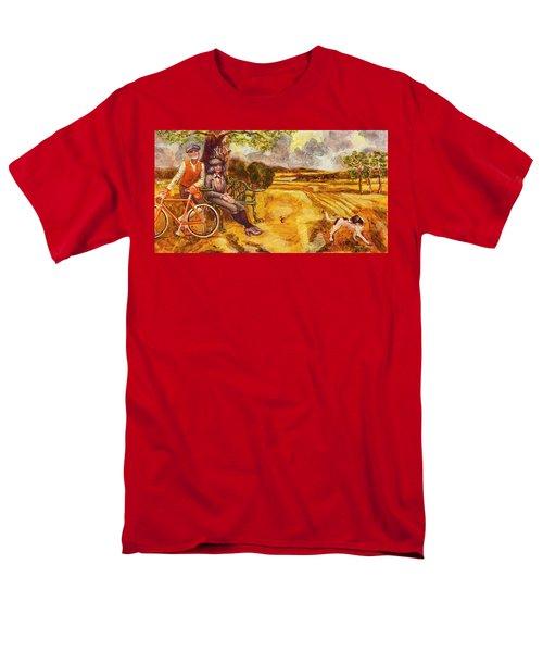 Walking The Dog After Gainsborough Men's T-Shirt  (Regular Fit) by Mark Jones