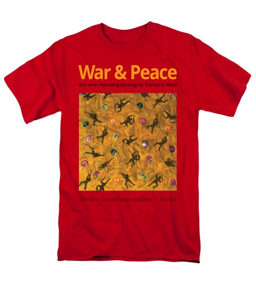 War And Peace T-shirt Men's T-Shirt  (Regular Fit) by Thomas Blood