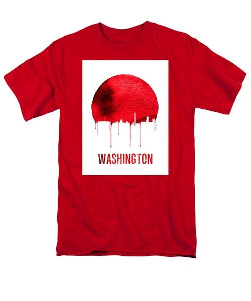 Washington Skyline Red Men's T-Shirt  (Regular Fit) by Naxart Studio