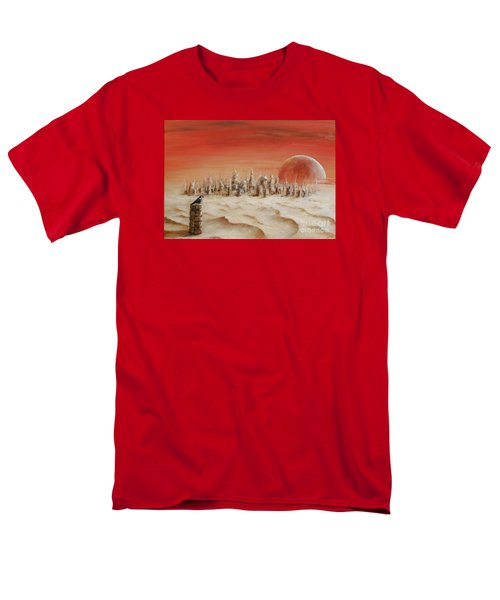 Men's T-Shirt  (Regular Fit) featuring the painting Watcher by Arturas Slapsys
