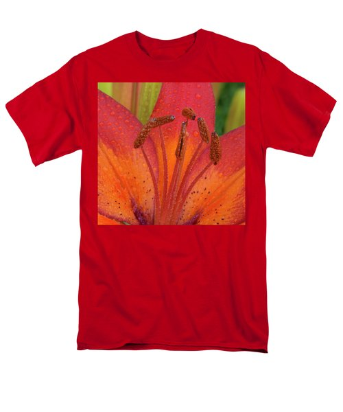 Men's T-Shirt  (Regular Fit) featuring the photograph Watered Lily by Jean Noren