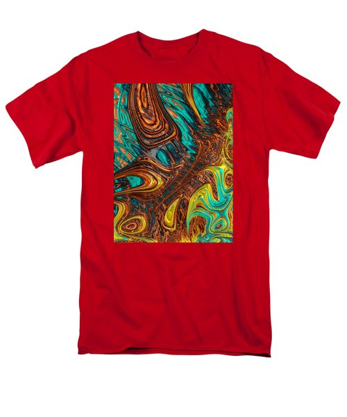 Men's T-Shirt  (Regular Fit) featuring the photograph Where Liquid Copper And Water Meet by Ronda Broatch