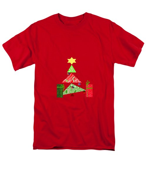 Whimsical Christmas Tree Men's T-Shirt  (Regular Fit) by Kathleen Sartoris