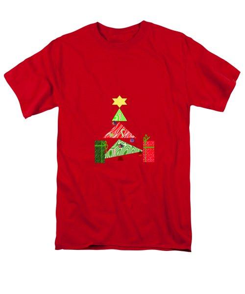 Whimsical Christmas Tree Men's T-Shirt  (Regular Fit)