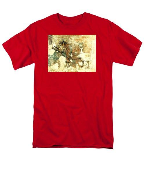 Wild Boar Cave Painting 1 Men's T-Shirt  (Regular Fit)
