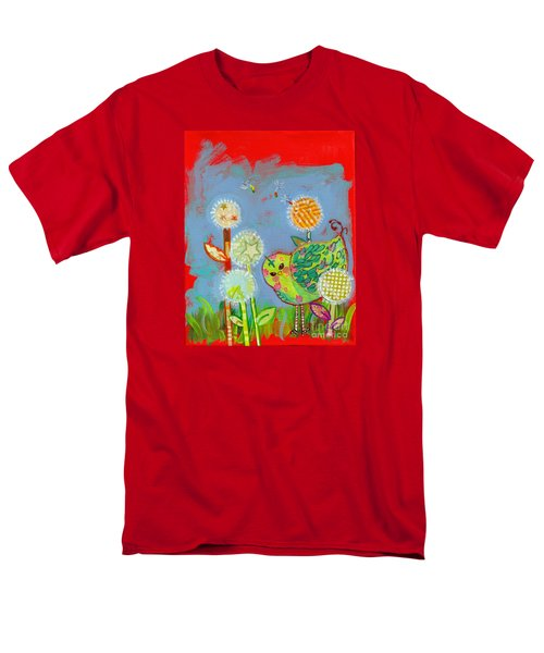 Wishful Thinking Birdy Men's T-Shirt  (Regular Fit) by Shelley Overton