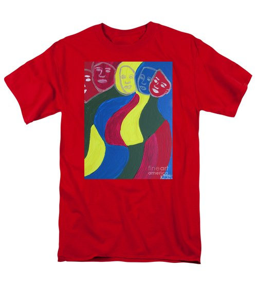 Men's T-Shirt  (Regular Fit) featuring the painting Women - Who Are All Sisters by Mudiama Kammoh